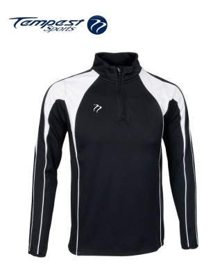 Black White Half Zip Midlayer
