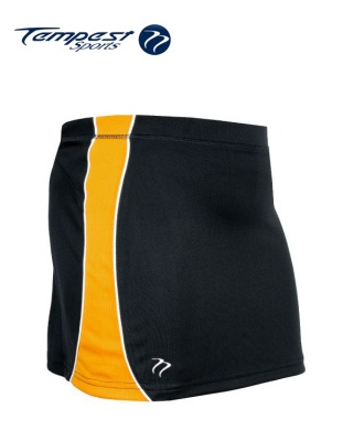 Tempest 'CK' Black Yellow Women's Skort