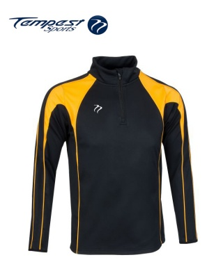 Black Yellow Half Zip Midlayer