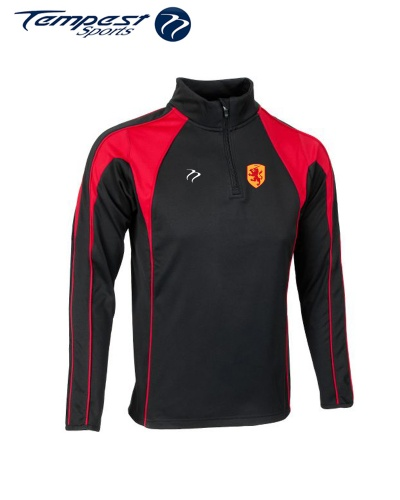 SHC CK Black Red Half Zip Midlayer