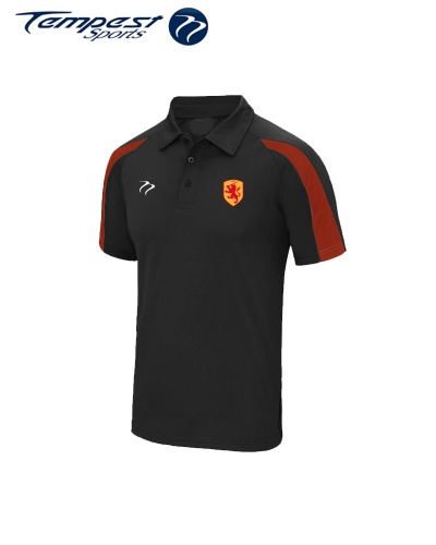 SHC Mens Black Red Training Polo