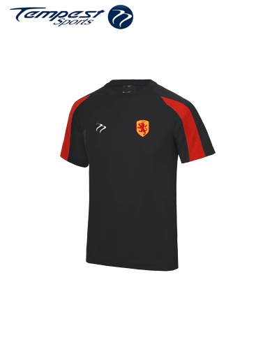 SHC Mens Black Red Training Shirt