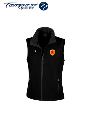 SHC Mens Black Soft Shell Gilet