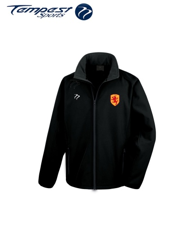 SHC Mens Black Soft Shell Jacket