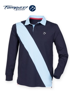 Tempest Leisure Navy Sky Stripe Rugby Shirt