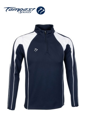 Navy White Half Zip Midlayer