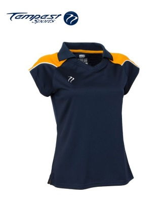 Tempest CK Womens navy Yellow Playing Shirt