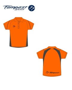 Hockey Umpire Style Men's Orange Black Shirt