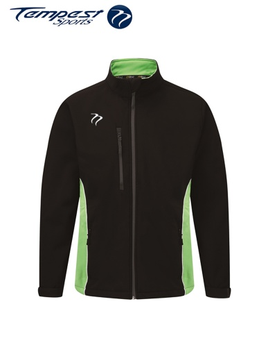 Umpires Black Green Heavy Soft Shell Jacket