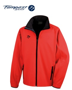 Tempest Red Black Soft Shell Womens Jacket