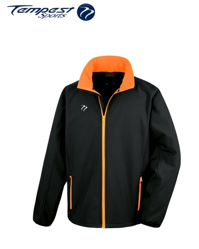 Umpires Black Orange Soft Shell Jacket