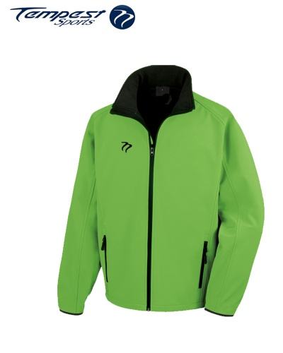 Umpires Green Black Soft Shell Jacket