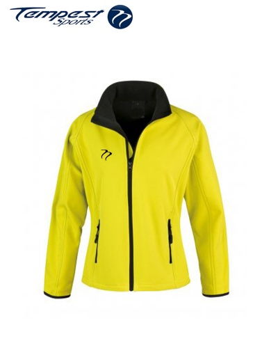 Umpires Women's Yellow Black Soft Shell Jacket