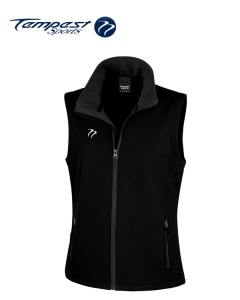 Tempest Black Grey Soft Shell Womens Gilet
