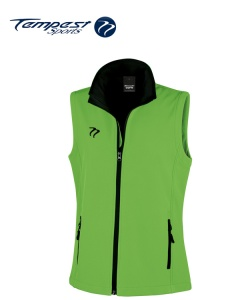 Umpire Lime Green Black Soft Shell Gilet