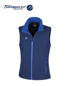 Tempest Navy Royal Soft Shell Womens Gilet