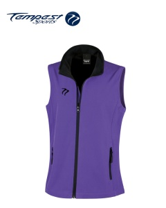 Tempest Purple Black Soft Shell Womens Gilet