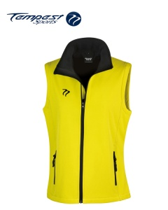 Tempest Yellow Black Soft Shell Womens Gilet