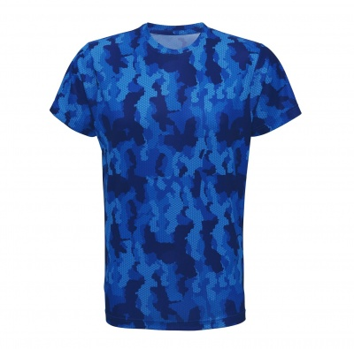 Tempest Tour Royal Blue Mens Camo T