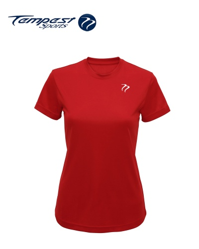 Tempest Women's Red Performance T