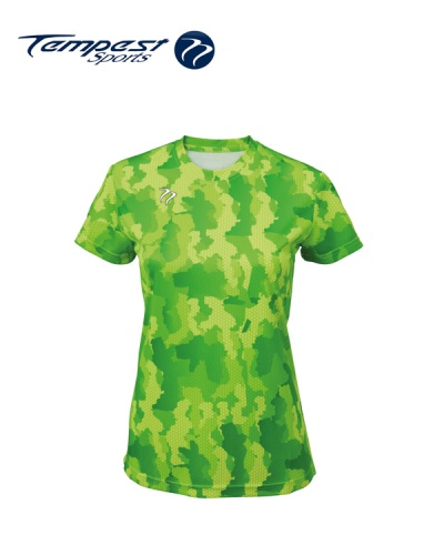 Tempest Tour Green Womens Camo T
