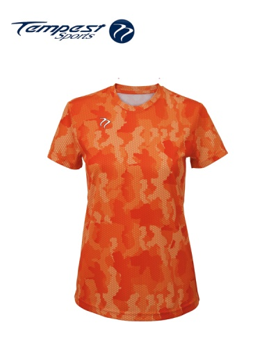 Tempest Tour Orange Womens Camo T