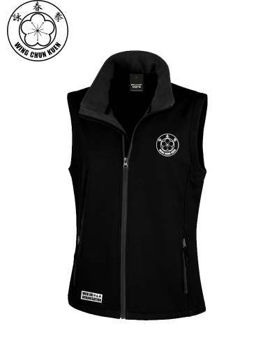 WCKUK Black Soft Shell Womens Gilet