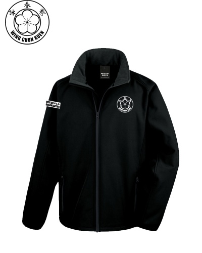 WCKUK Mens Black Soft Shell Jacket