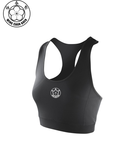 WCKUK Ladies Black Crop Top
