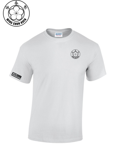 WCKUK Mens White Cotton T-Shirt