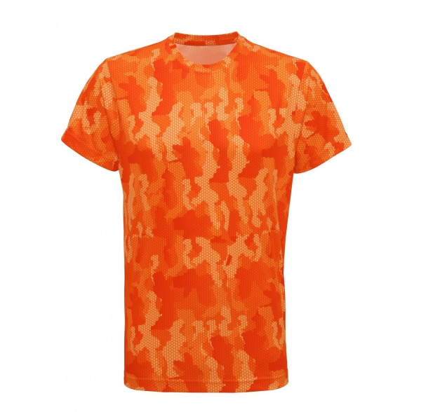 Tempest Tour Orange Mens Camo T