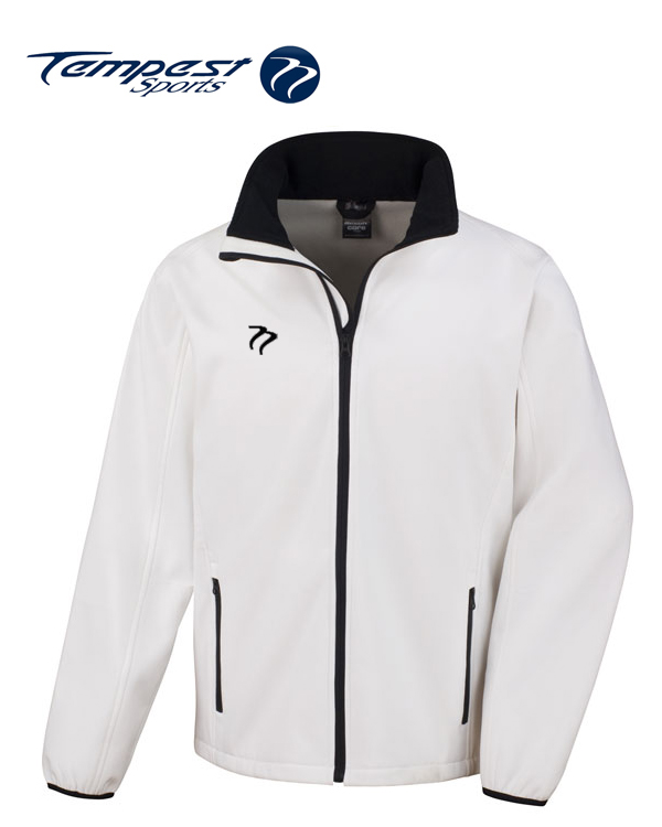 Tempest White Black Soft Shell Jacket