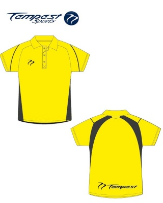 Umpire Style Men's Yellow Black Polo Shirt