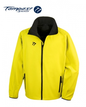 Tempest Yellow Black Soft Shell Womens Jacket
